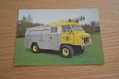 West Sussex Fire Brigade Land Rover Water Tender in Coventry Yellow Postcard