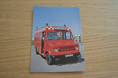West Sussex Fire Brigade Ford A Series Control Unit Postcard