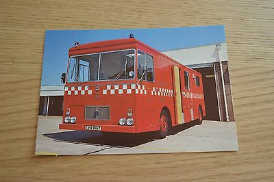 East Sussex Fire Brigade Bedford Control Unit Postcard
