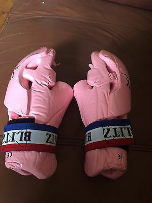 Pink Blitz Hand Guards Tag Gloves Size XS