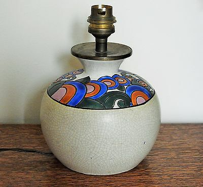 Art Deco French Pottery Lamp Base