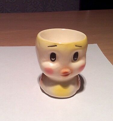 Vintage Retro 50s/60s Yellow Chick Egg Cup Easter