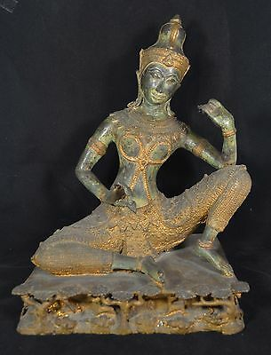Early Thai  Bronze Musician Statue