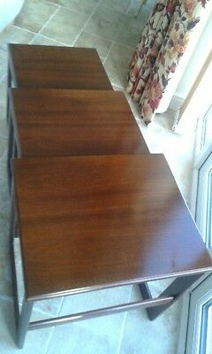 Vintage Mahogany nest of tables set of 3 excellent condition high quality.