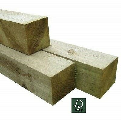 Pressure Treated Timber Wooden Gate Fence Post 100mm x 100mm 1.8m (6ft)