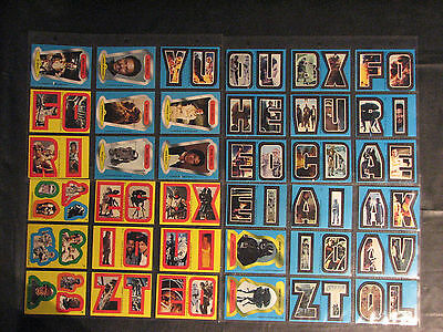 Star Wars: The Empire Strikes Back Sticker card lot of 36 - 1980, Series 1 & 2