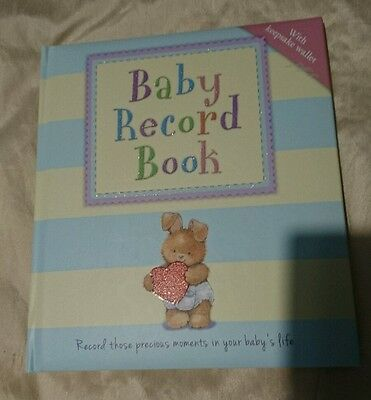 *** Baby Record Book Book with Keepsake Wallet *** NEW ***