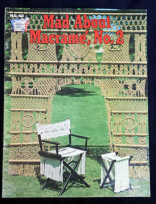 Vintage 1975 Mad About Macrame No. 2 Design Pattern Book HA 40 by Hazel Pearson