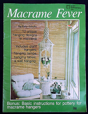 Vintage 1977 Macrame Fever Craft Publications Pattern Book by Patty Schulte