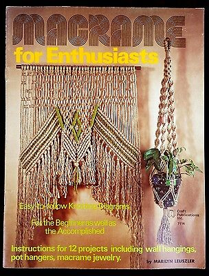 Vintage 1975 Macrame For Enthusiasts Pattern Book 7114 by Marilyn Leuszler