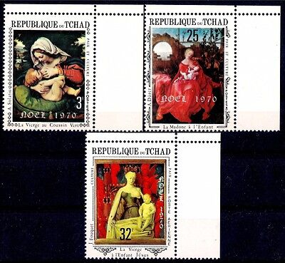 Tchad Chad 1970 Christmas Paintings by Durer Solario Fouquet Natale 3v set MNH