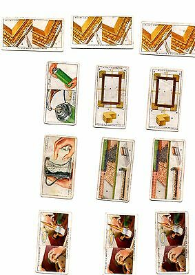 Will's Cigarette Cards - Household Hints - Spares - No.s 26 30 31 33 34 43