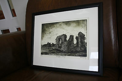 Gaerwen artist Sioned Furlong    very accomplished  ETCHING    ANGLESEY N
