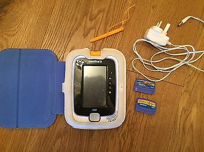 Vtech Blue Innotab 3 bundle, 2 games - Cars & Scooby Doo, case, stylus, charger