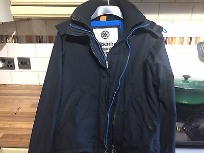 Men's / Boy's Superdry Windcheater Small Black with Blue Lining