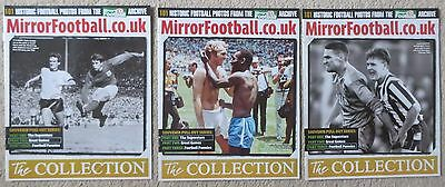 Daily Mirror The Collection  101 Historic Football Photos Full Set 3 magazines