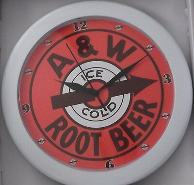 A & W Root Beer Sign Wall Clock