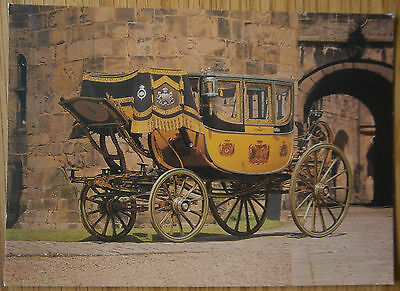 The State Coach Alnwick Castle Postcard Northumberland Horse Drawn Carriage