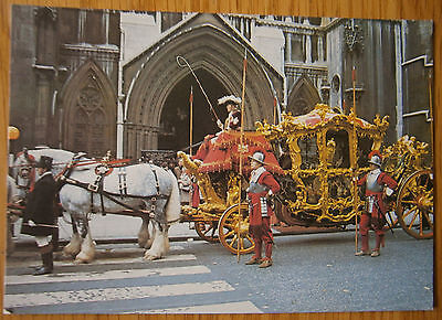 Lord Mayor's Coach London Postcard Golden Coach Horse Drawn Lord Mayor Show