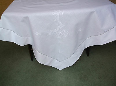 Vintage Enbroidered Table Cloth