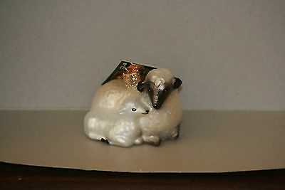 Sheep with Lamb Old World Christmas glass ornament