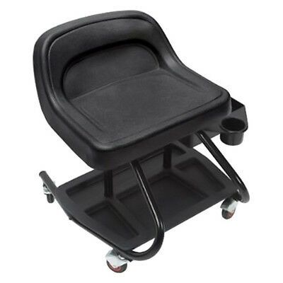 MECHANICS TRACTOR CHAIR Tool Box Storage Tray Creeper Roller Seat Rolling Stool