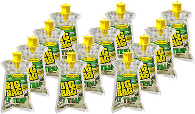 12 ct multipack Rescue! Big Bag Disposable Fly Trap