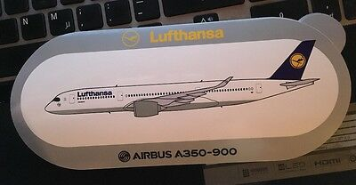 New Airbus Sticker Lufthansa Airbus A350-900, 12/2016, For First Delivery To LH