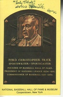 Milo Hamilton Autographed Gold Hall of Fame Baseball Plaque Sportscaster D.15