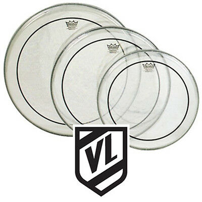 """REMO Clear Pinstripe Tom Pack drum heads 10"""" 12"""" 14"""""""