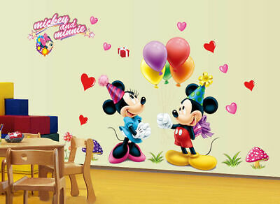 Wandsticker Kinder Disney Mickey Maus Wandtattoo Aufkleber Kinderzimmer Sticker