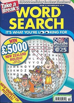 Take A Break Word Search Magazine Lots Of Puzzles Solutions In Back Free P/p (1)
