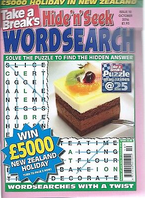 Take A Break Word Search Magazine Lots Of Puzzles Solutions In Back Free P/p (2)