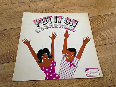 put it on it's rock-steady UK vinyl Lp 1968 pink island delroy wilson wailers