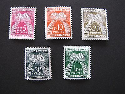 Timbre Taxe France 1960 YT N°90/94