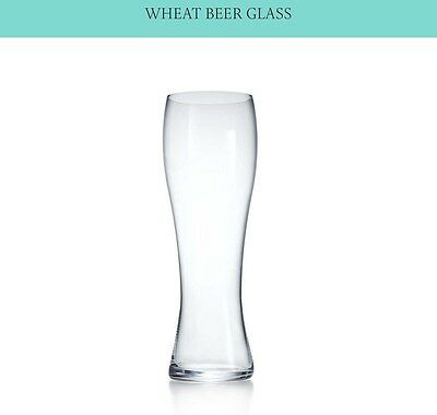 Two New TIFFANY & CO. CRYSTAL BEER GLASSES PILSNER Lead Crystal in Tiffany Box.