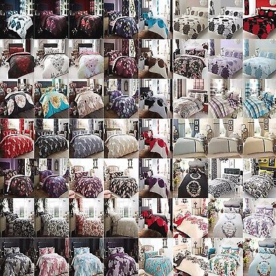 Duvet Cover with Pillow Case Quilt Cover Bedding Set Single Double King Printed