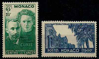 TIMBRES MONACO Année 1938  n°167/168  NEUF** COTE 48€ SUPERBE