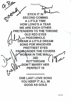 The South (Beautiful South) - SIGNED Setlist 2016