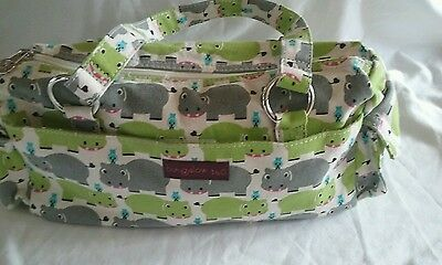 Bungalow 360 Übër Cute Hippo satchel Purse Washable & Quality!  3 Awesome Gift!
