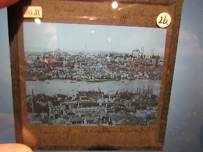 Magic Lantern Slide A VIEW OF CONSTANTINOPLE AND PERA