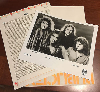 Y&T 1983 PRESS KIT + PHOTO rare Yesterday and Today memorabilia Mean Streak