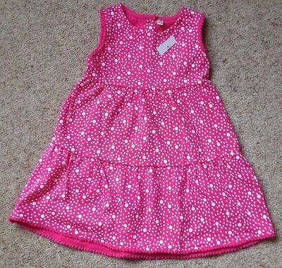 Baby Girls Pretty Sleeveless Spotted Dress From Bhs  Age 6-9 Months  Bnwt
