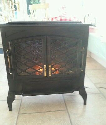 Burley large electric stove fire