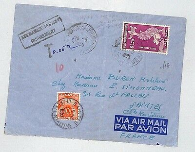 J2 1953 Vietnam to France by Air Mail