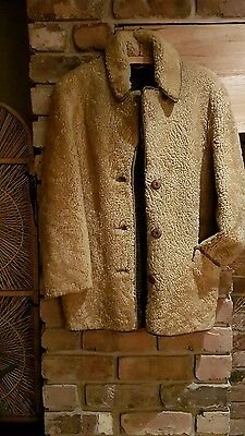 ladies vintage sheepskin coat
