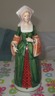 """FIGURINE HENRY VIII WIFE CATHRINE OF ARAGON  it has H.T. stamp   8"""" high"""
