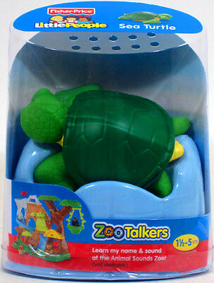 Fisher-Price Little People ZOO TALKERS SEA TURTLE Interactive sounds NEW marine