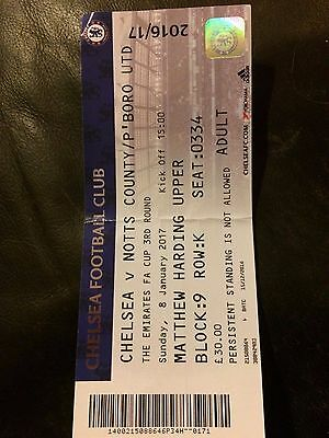 MATCH TICKET - CHELSEA v PETERBOROUGH UNITED 2016-17 FA CUP