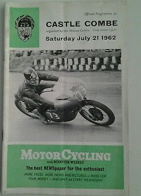 Castle Combe motorcycle Road Race programme July 1962